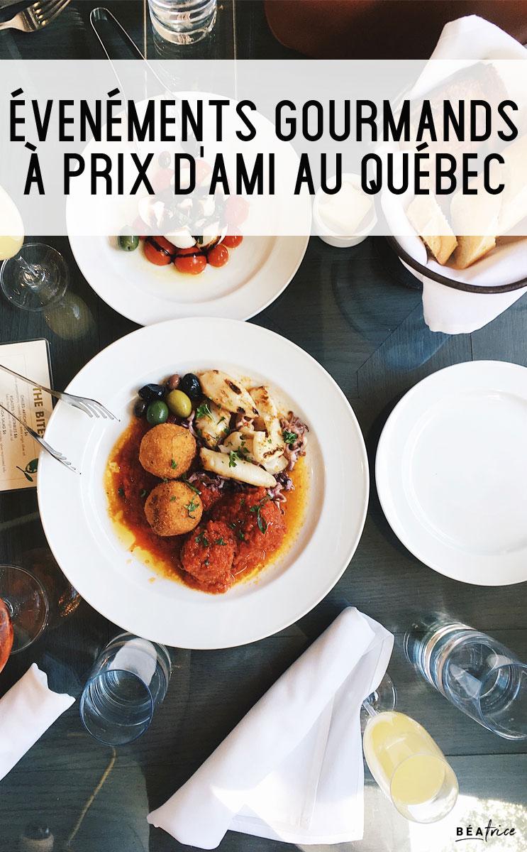 Image pour Pinterest : événements gourmands québec