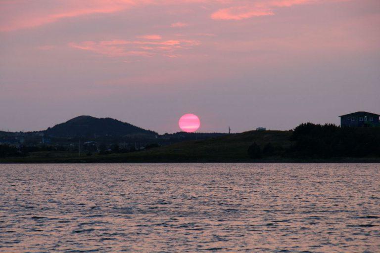Coucher de soleil aux îles de la Madeleine