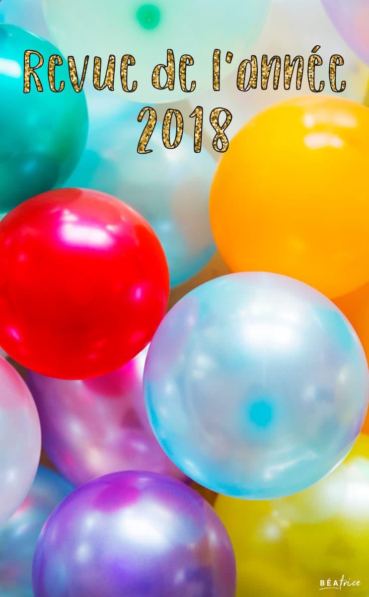 Image pour Pinterest : revue de l'année 2018
