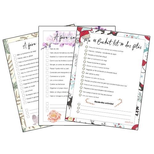 Listes d'activités à faire imprimer pour abonnées