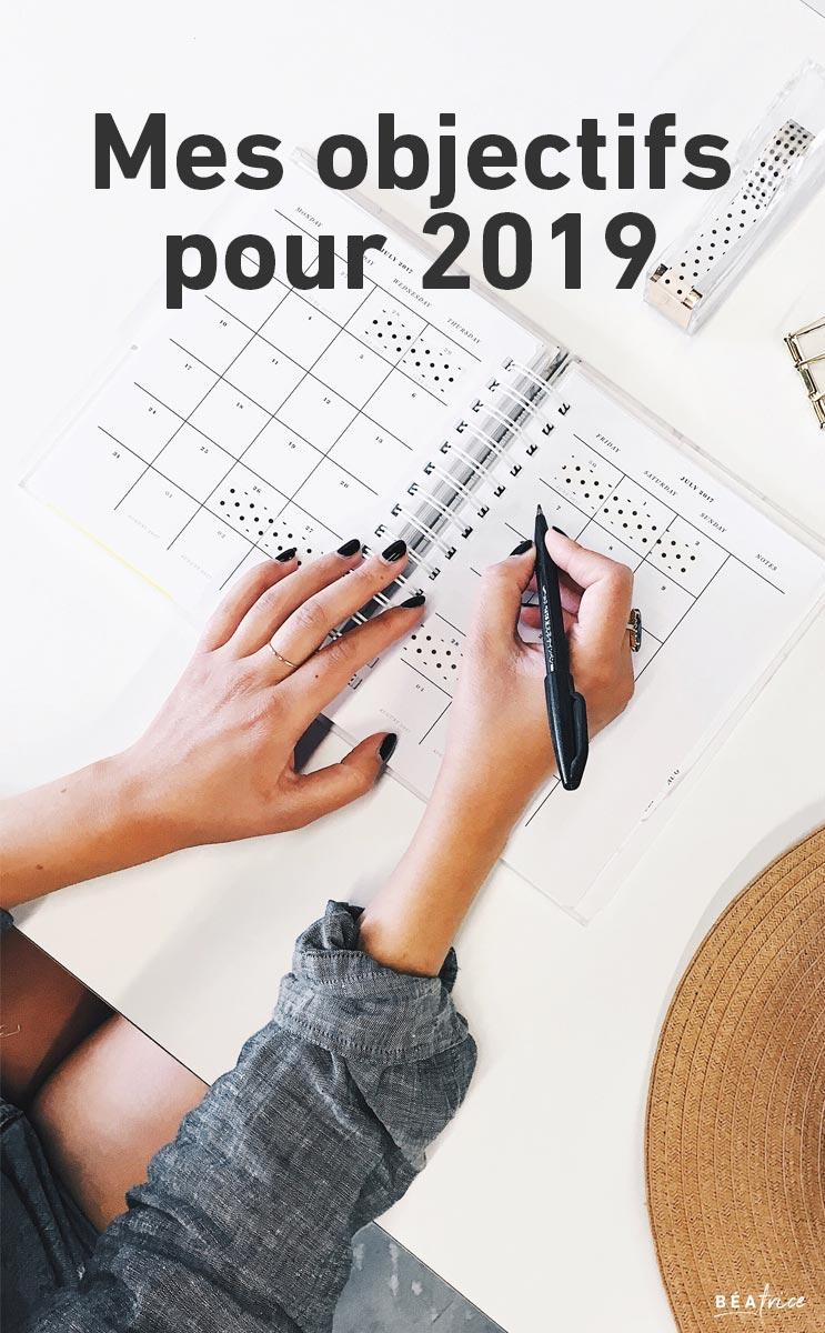 Image pour Pinterest : objectifs 2019