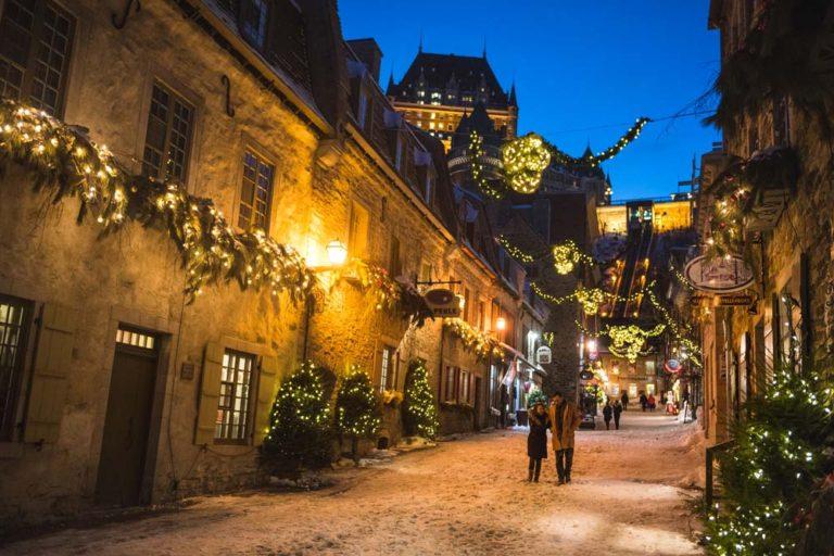 Petit-Champlain l'hiver