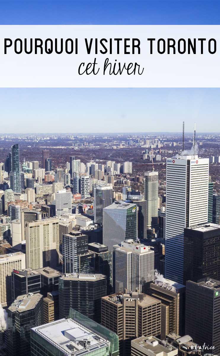 Image pour Pinterest : Toronto hiver