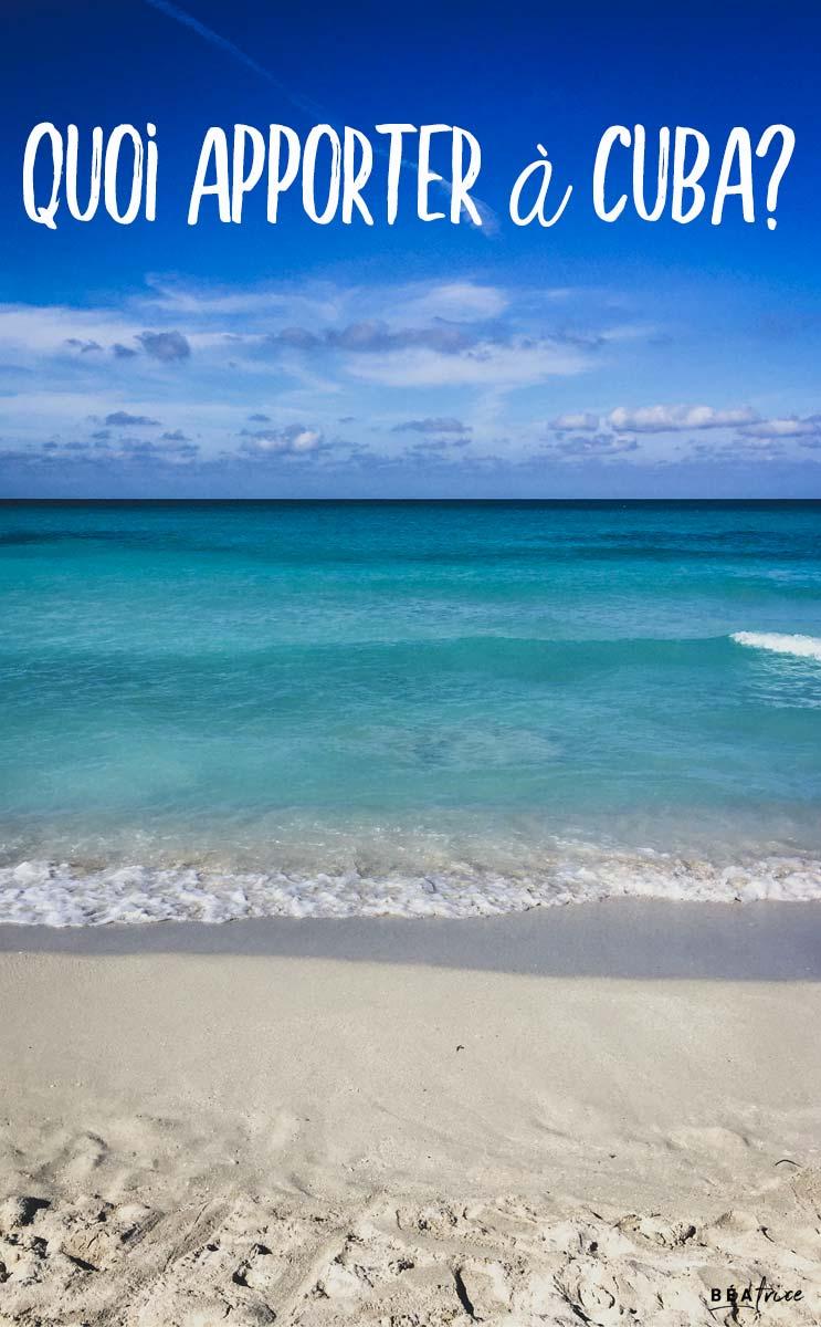 Image pour Pinterest : valise Cuba