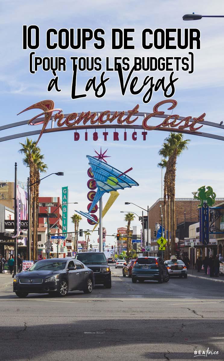 Image pour Pinterest : quoi faire à Las Vegas
