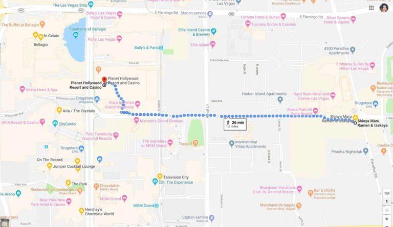 Google Maps de Las Vegas
