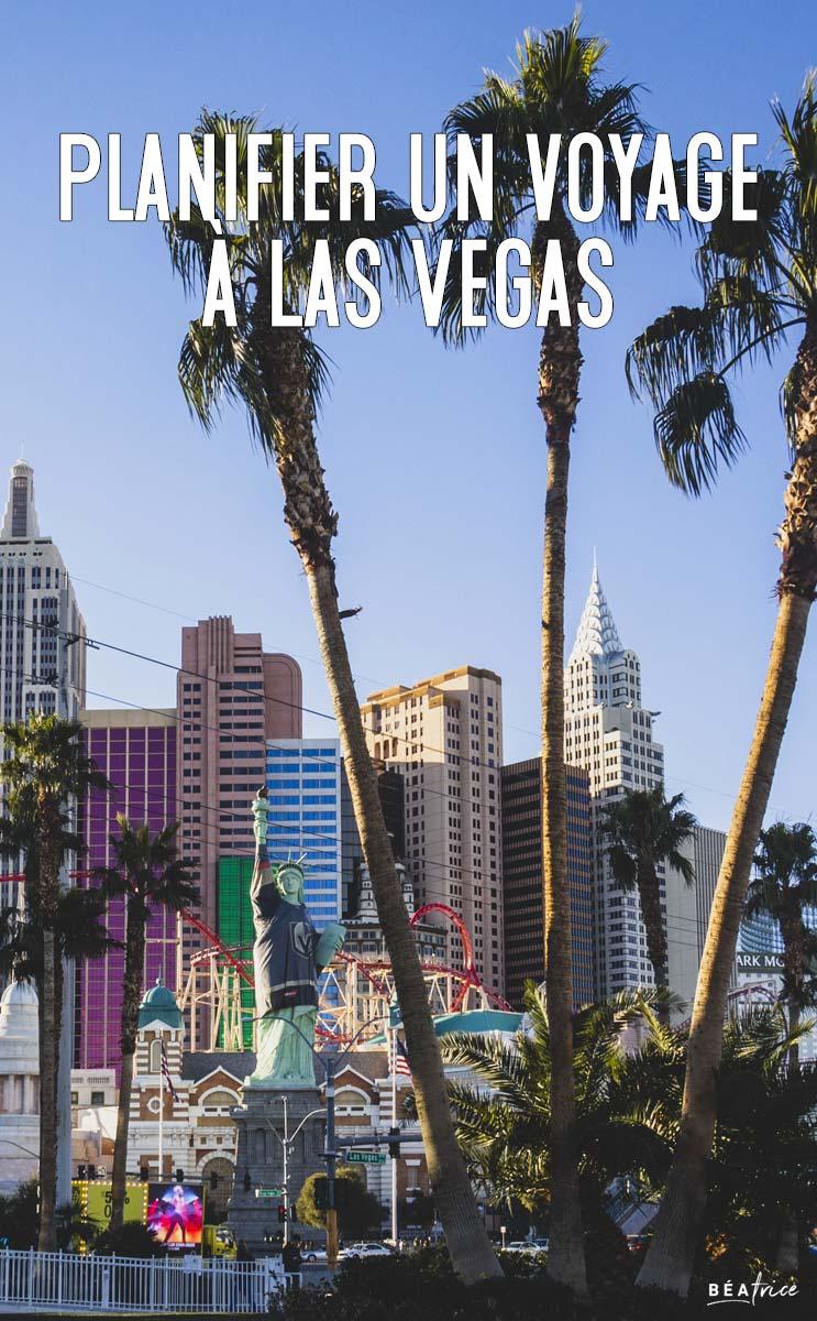 Image pour Pinterest : voyage las vegas