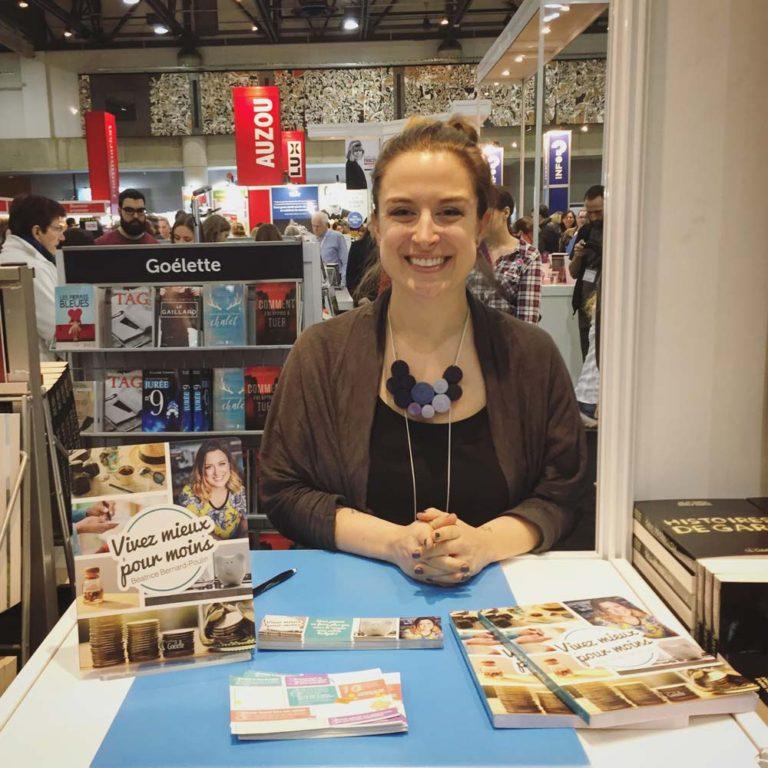 Moi au Salon du livre de Québec