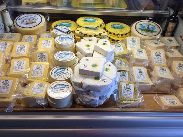 Fromages de la fromagerie Pied-de-Vent