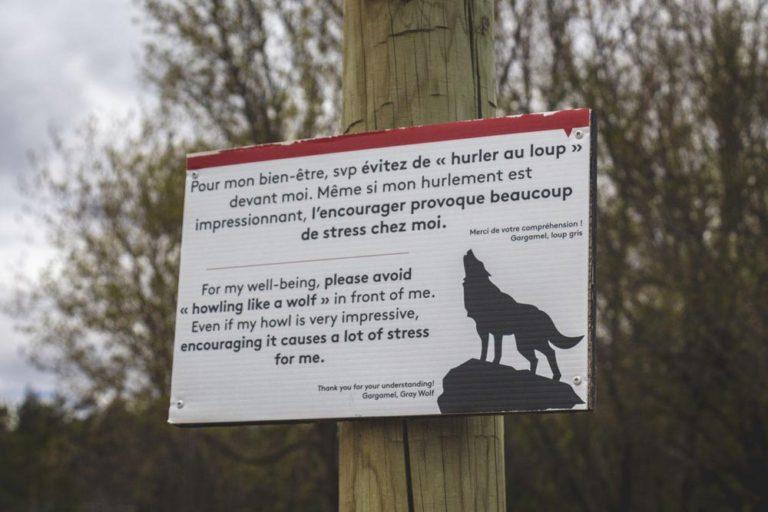 Pancarte respect des loups