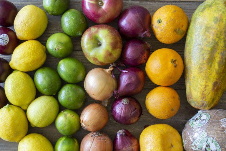 Fruits et légumes de la boite Flashfood