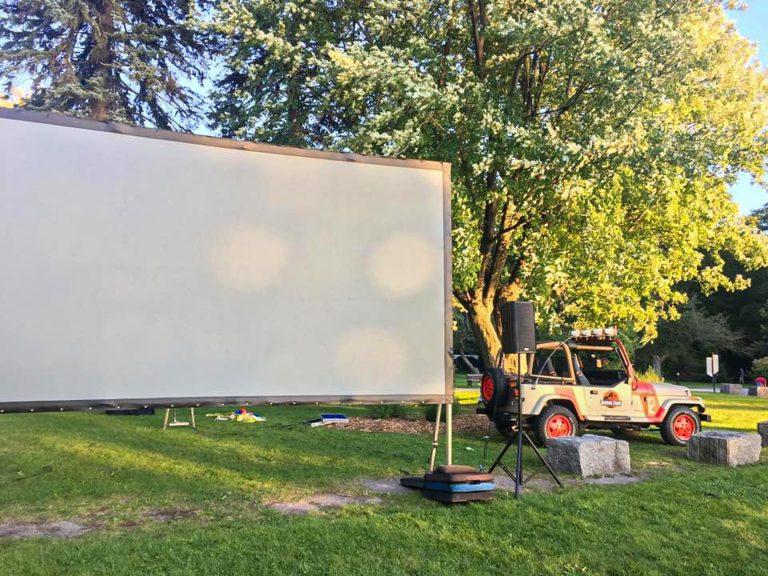 Cinéma en plein air au Parcours Gouin