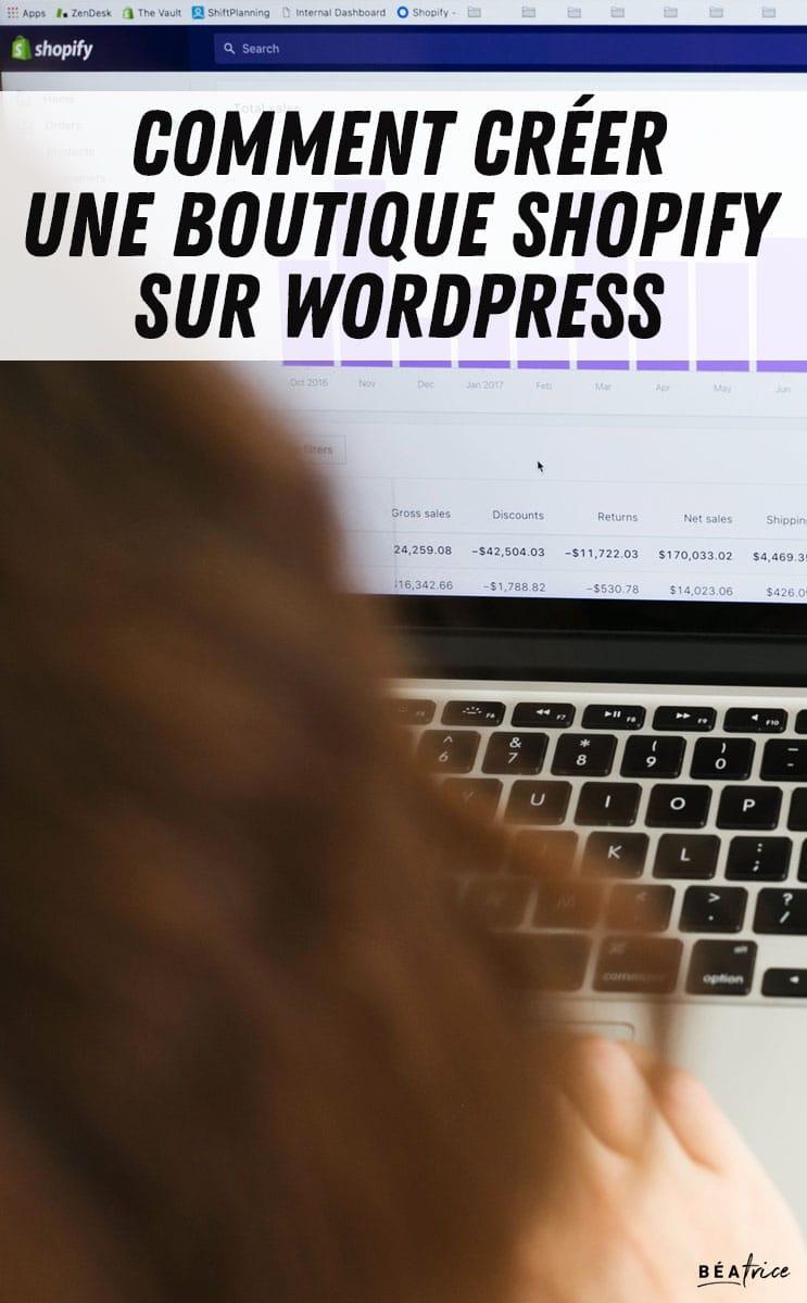 Image pour Pinterest : woocomerce vs shopify