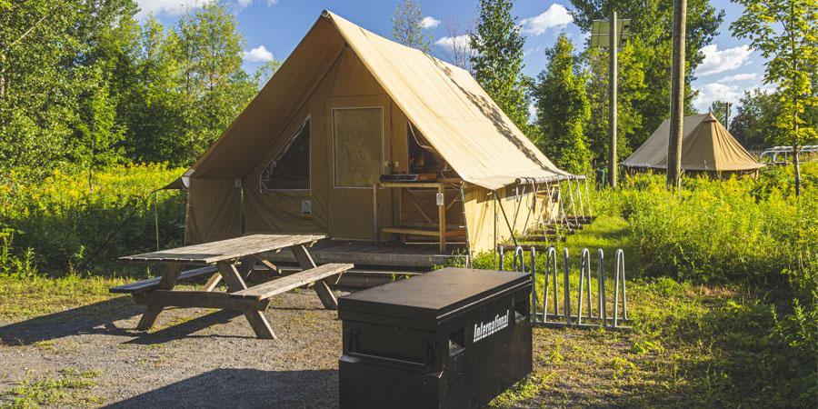 Image à la une : camping sans voiture