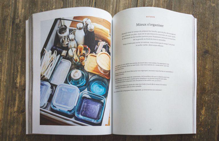 Intérieur du livre Les lunchs - L'organisation