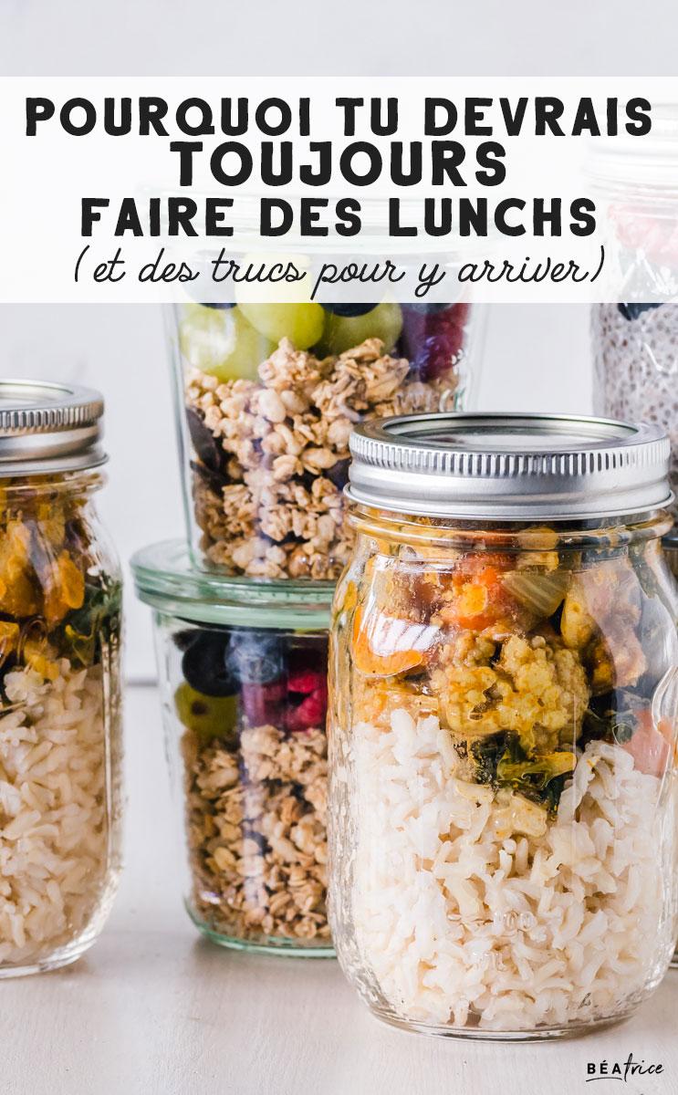 Image pour Pinterest : lunch recettes faciles